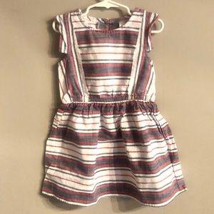 Girls Striped Dress NWOT